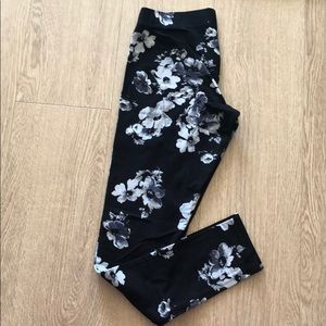 Garage black and grey floral tights